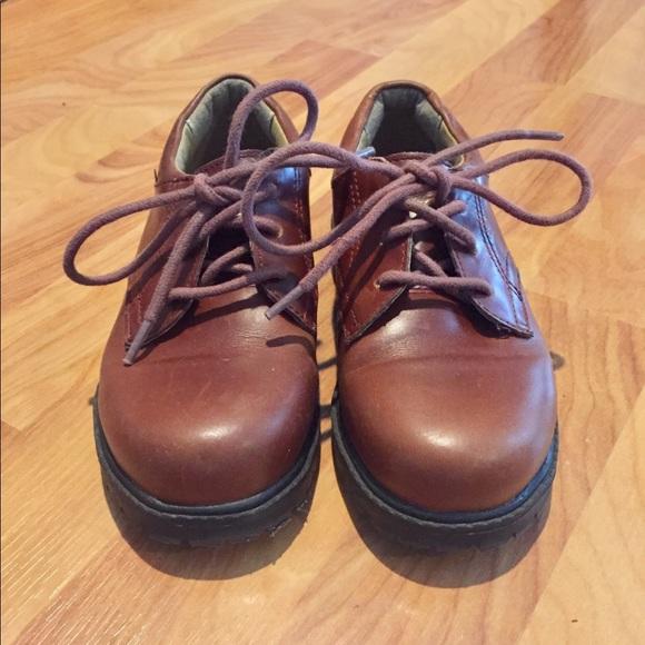 Boys Stride Rite Brown Leather Dress Shoes 12.5 W 1572c03ba18